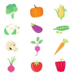Vegetable food set vector