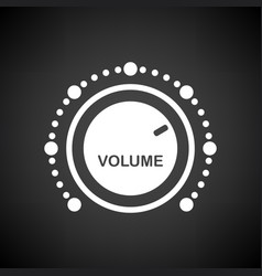 volume control icon vector image