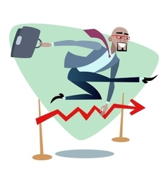 African businessman jumps schedule sales is like a vector image vector image