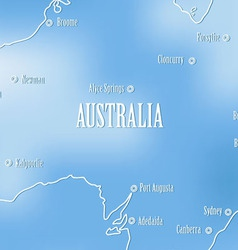 Creative map of Avstrali vector image vector image