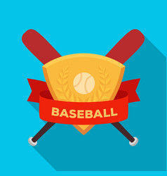 emblem baseball single icon in flat style vector image