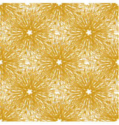 gold seamless pattern with bright firework vector image