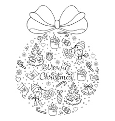 hand drawn christmas pattern vector image vector image