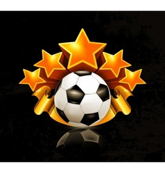 Orange sports emblem football vector image vector image