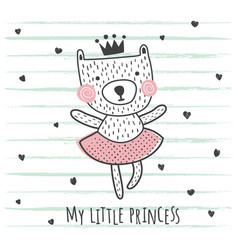 princess bear vector image