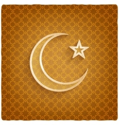 ramadan kareem background with crescent moon and vector image vector image