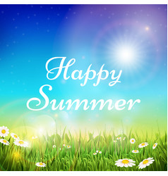 spring and summer background with green vector image vector image