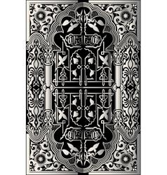 vintage baroque background frame card vector image