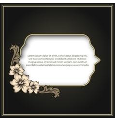 Vintage frame with floral decor vector image