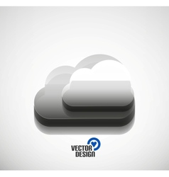 3d cloud computing concept icon vector image