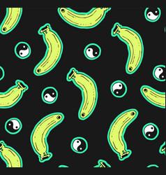 Black seamless banana pattern vector