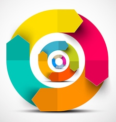 Colorful Paper Circle Arrows vector image vector image