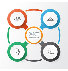 network icons set collection of confirm phone vector image