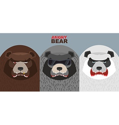 Set bad bears Wild angry animals Villains vector image vector image