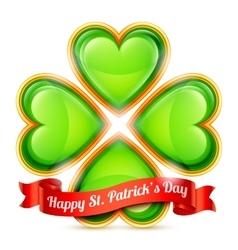 St Patrick Day Congratulation vector image vector image