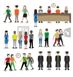 University people avatars vector image vector image