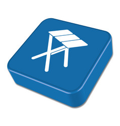 Camping tstool icon vector