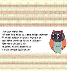 Owl invitation card template vector