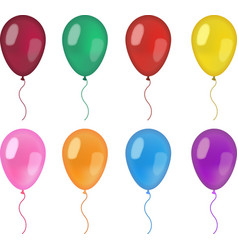 Realistic balloons set 3d balloon different vector image vector image