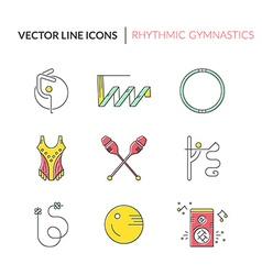 Rhythmic Gymnastics Icons vector image vector image