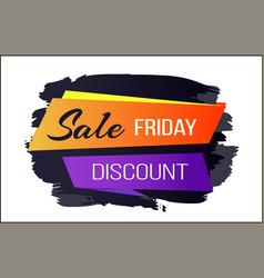 sale discount friday badge vector image