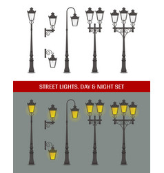 Street lights vector