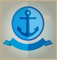 Vintage Retro Nautical Badges And Labels vector image vector image