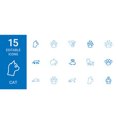 15 cat icons vector