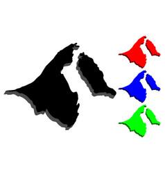 3d map of brunei vector image