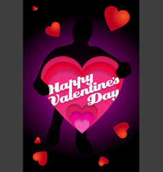 a valentines card from an secret admirer happy vector image