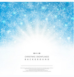 abstract background of blue sky christmas vector image