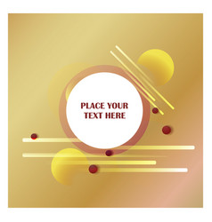 abstract line background with golden background vector image