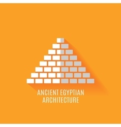 Ancient Egyptian architecture Icon vector image
