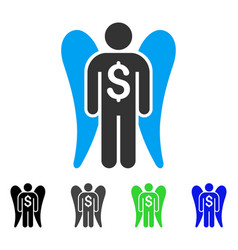 Angel investor flat icon vector