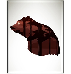 Animal head silhouette vector