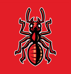 Ant mascot set vector