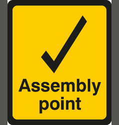 Assembly point icon eps10 vector