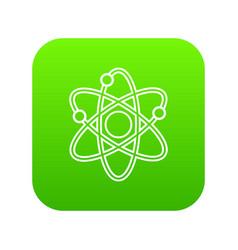 atom icon green vector image