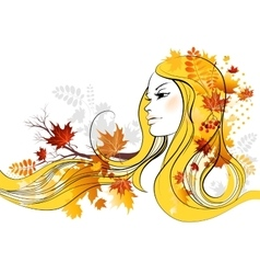 Autumn beauty vector image