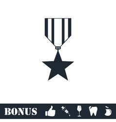Award icon flat vector