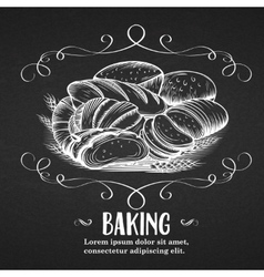 Banner baking hand drawn vector