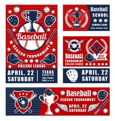 Baseball sport game championship poster vector
