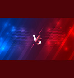 Battle versus vs background for sports game vector