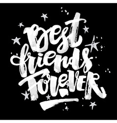Best friends forever vector