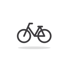 bicycle icon and symbol vector image