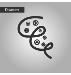 Black and white style ice storm vector