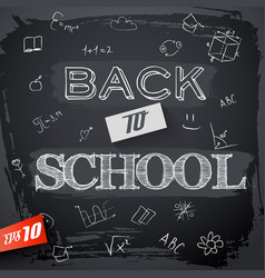 black board composition vector image
