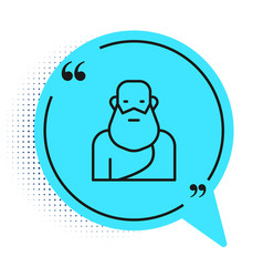 Black line socrates icon isolated on white vector