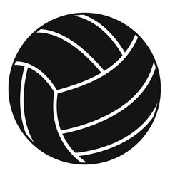 Black volleyball ball icon simple style vector