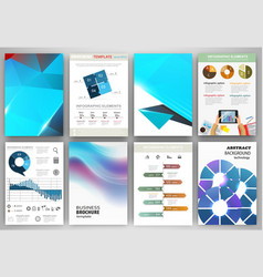 blue backgrounds and abstract concept infographics vector image